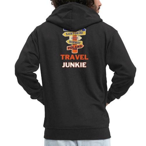 traveljunkie - i like to travel - Männer Premium Kapuzenjacke