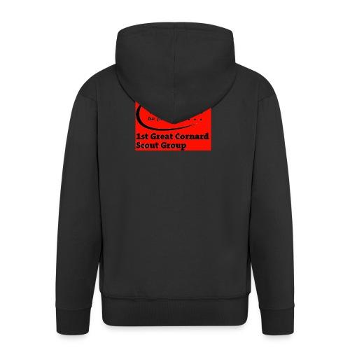1st Great Cornard Scout Group - Men's Premium Hooded Jacket