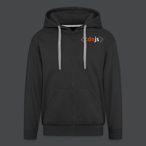 cdnjs Subtle Logo (Zip-Up Hoodies) - Men's Premium Hooded Jacket