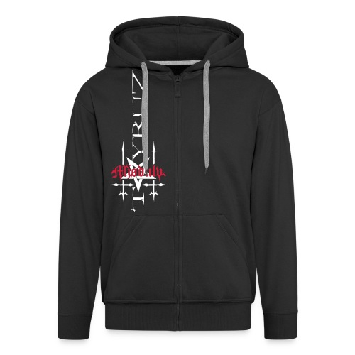 Mjødulvkors copy - Men's Premium Hooded Jacket