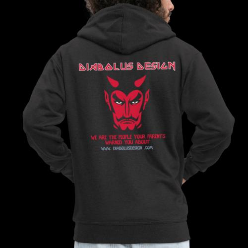 Ol Diabolus Head VECTOR - Men's Premium Hooded Jacket