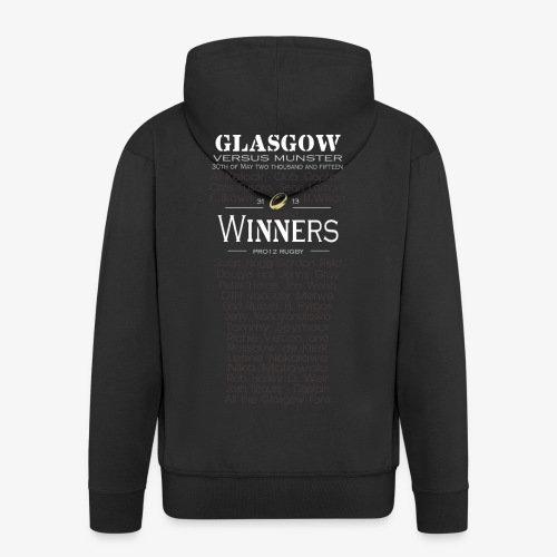 PRO12 Winners Glass - Men's Premium Hooded Jacket