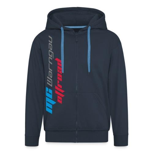 mcwarngau schriftzug - Männer Premium Kapuzenjacke