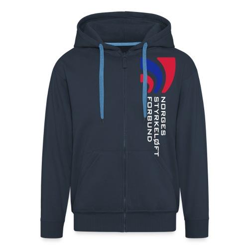 nsf logo og txt - Premium Hettejakke for menn