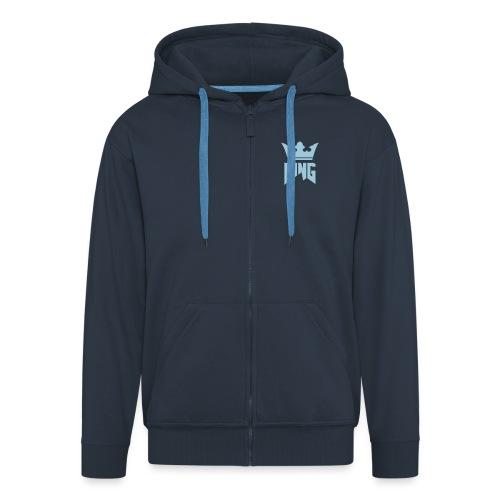 Krone_negativ_weiss - Men's Premium Hooded Jacket