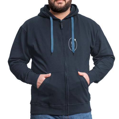 Icon Noerdisch White 1c - Männer Premium Kapuzenjacke