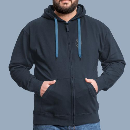 logo bb spreadshirt bb kopfonly inv - Männer Premium Kapuzenjacke