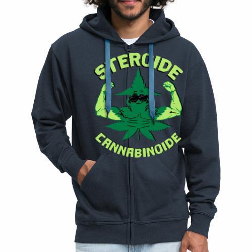 Cannabis Steroid - Männer Premium Kapuzenjacke