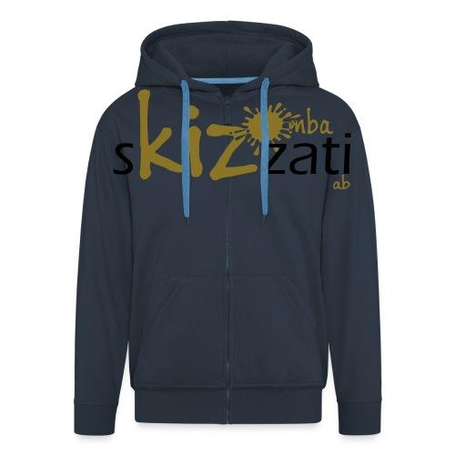 T-Shirt attillata sKizzati Kizomba Uomo verde fluo - Felpa con zip Premium da uomo