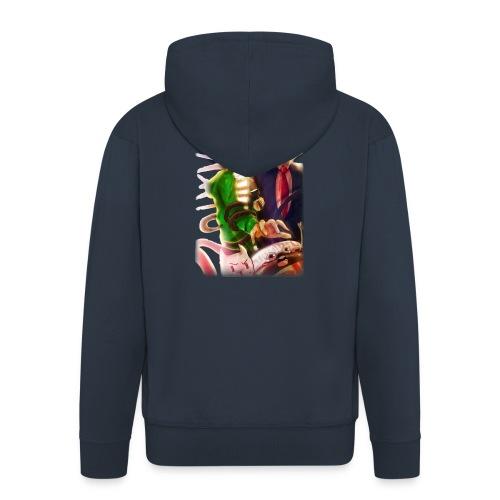ShirtFinale png - Felpa con zip Premium da uomo