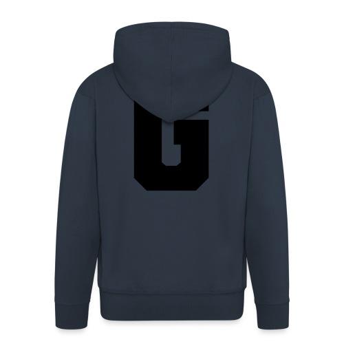 G - Grossbuchstabe einzeln, fett und serifenbetont - Männer Premium Kapuzenjacke