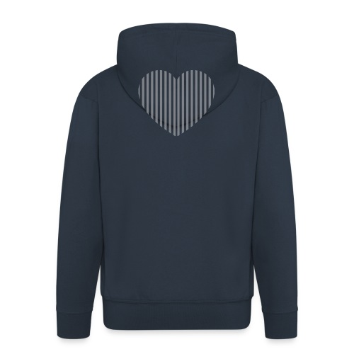 heart_striped.png - Men's Premium Hooded Jacket