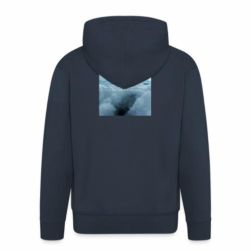Blue Sky - Felpa con zip Premium da uomo
