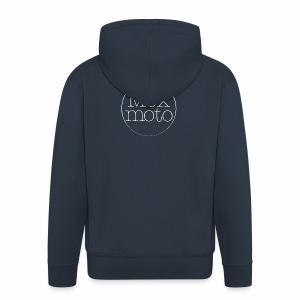 Moxi logo white - Männer Premium Kapuzenjacke