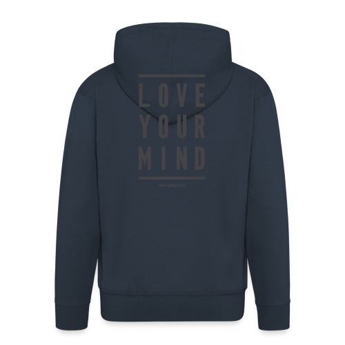 Mindapples Love your mind merchandise - Men's Premium Hooded Jacket