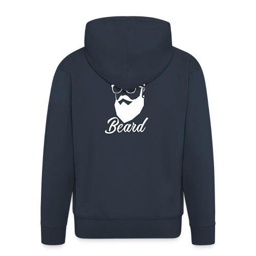 beard en blanco - Chaqueta con capucha premium hombre