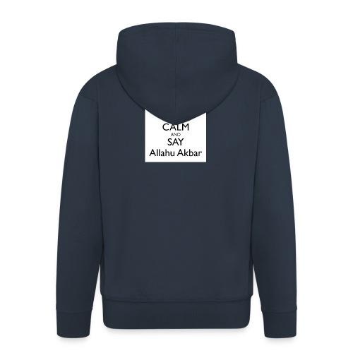 keep-calm-and-say-allahu-akbar - Männer Premium Kapuzenjacke