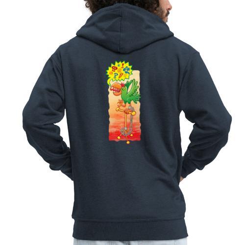 Furious parrot saying bad words - Men's Premium Hooded Jacket