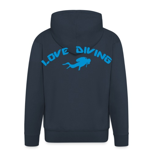 love diving - Männer Premium Kapuzenjacke
