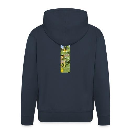 Riesen-Lesezeichen Sonnenblume + Spruch - Männer Premium Kapuzenjacke