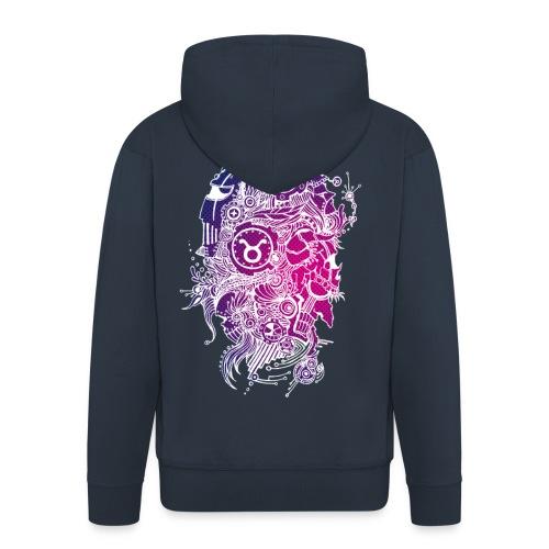 Taurus Skull Zodiac Sign - Men's Premium Hooded Jacket