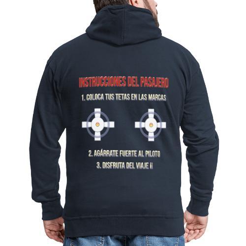 Instrucciones Pasajero - Chaqueta con capucha premium hombre