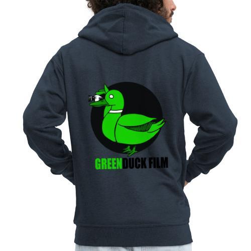 Greenduck Film Logo w. black letters - Herre premium hættejakke