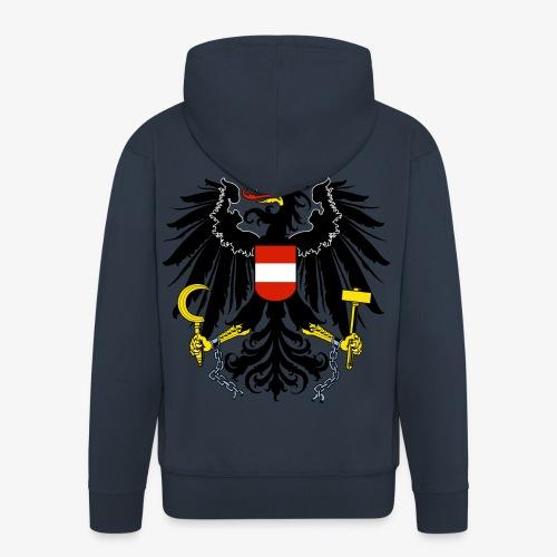 Österreich Wappen - Männer Premium Kapuzenjacke
