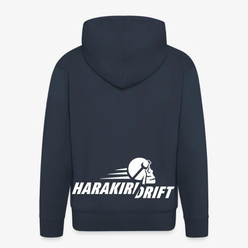 Harakiri Drift Logo Weiss - Männer Premium Kapuzenjacke