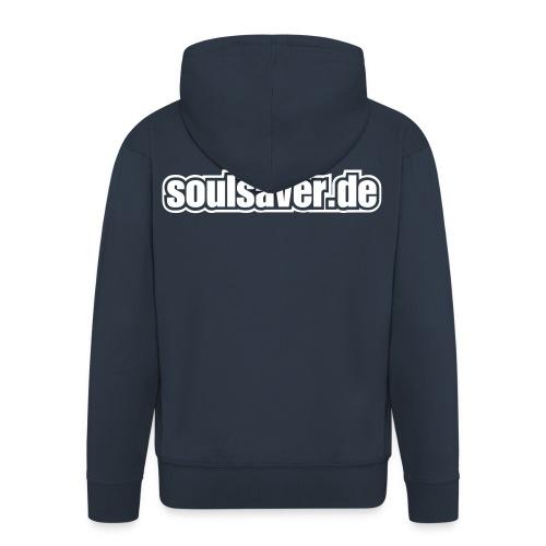 soulsaverlogo blackonly - Männer Premium Kapuzenjacke