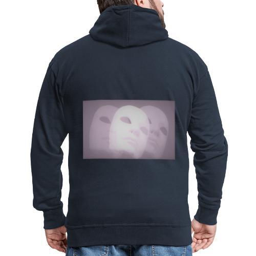 Maschere lilla - Felpa con zip Premium da uomo
