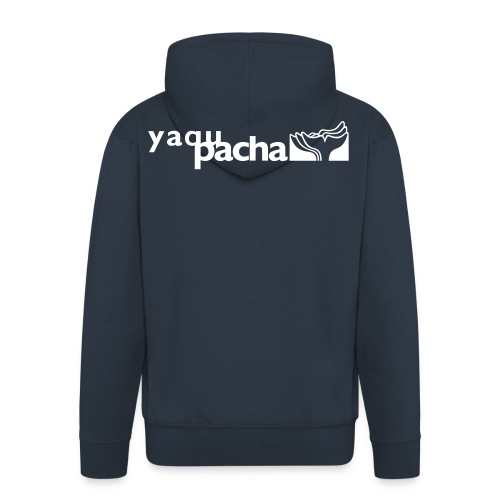 yaqupacha logo vektor - Männer Premium Kapuzenjacke