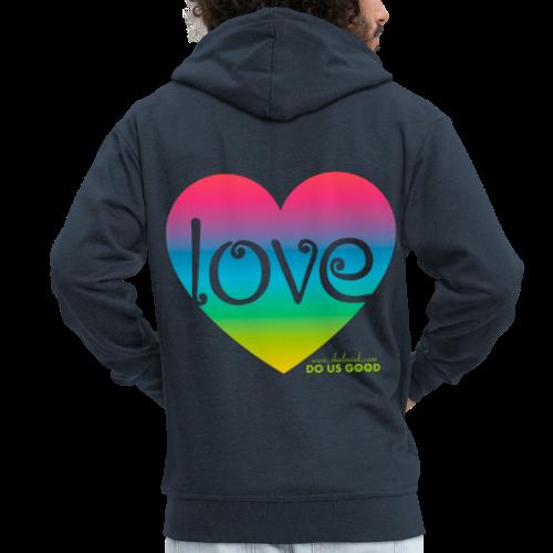 LOVE - Miesten premium vetoketjullinen huppari