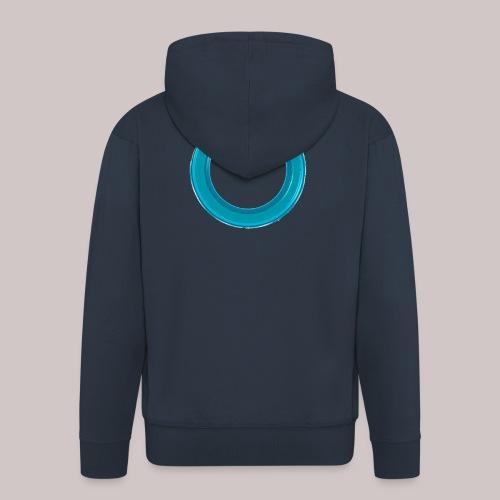sb-button-azure - Felpa con zip Premium da uomo