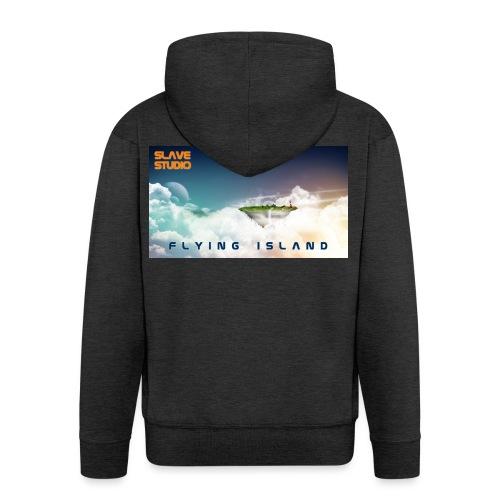 flying island - Felpa con zip Premium da uomo