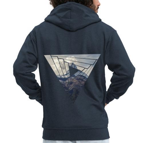 Matterhorn Zermatt Dreieck Design - Männer Premium Kapuzenjacke