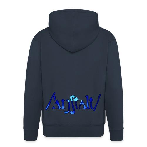 /'angstalt/ logo gerastert (blau/schwarz) - Männer Premium Kapuzenjacke