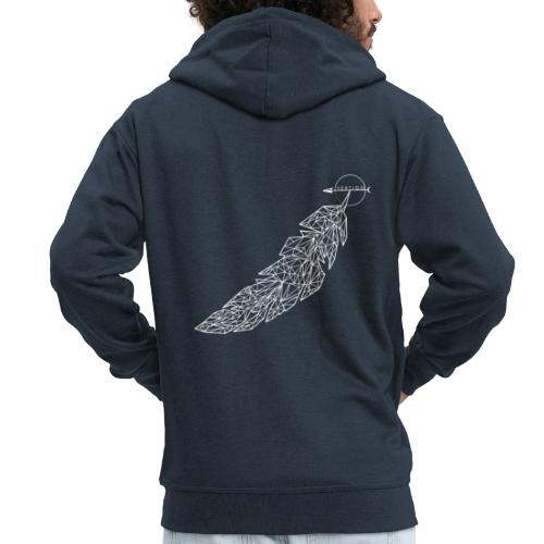 Feathered - Men's Premium Hooded Jacket