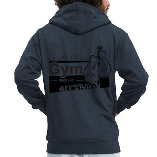 Gym in Druckfarbe schwarz - Männer Premium Kapuzenjacke