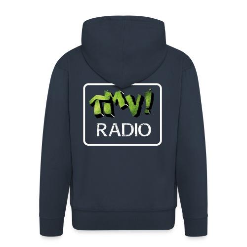 TMV RADIO logo bianco - Felpa con zip Premium da uomo