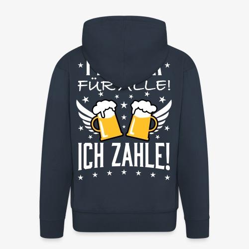 114 Freibier für alle ich zahle Bier Prost - Männer Premium Kapuzenjacke