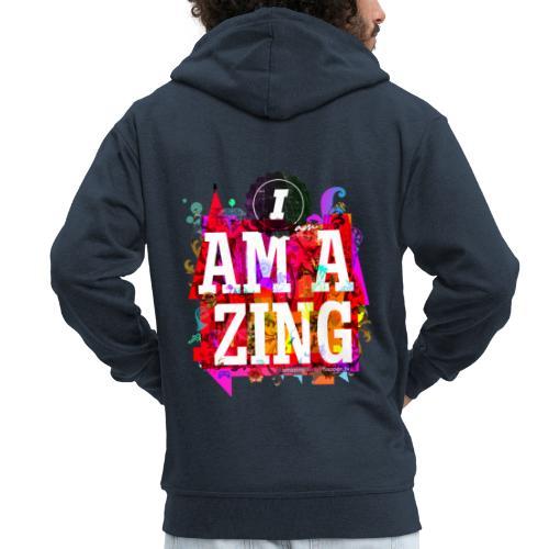 I am Amazing - Men's Premium Hooded Jacket