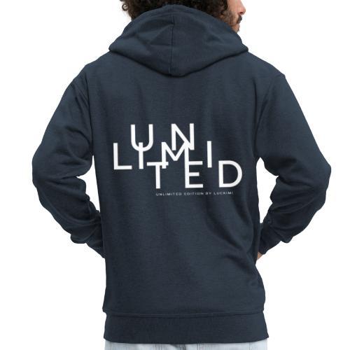 Unlimited white - Men's Premium Hooded Jacket