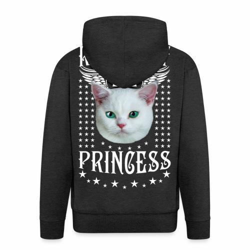 26 Royal Cat Princess white feine weiße Katze - Männer Premium Kapuzenjacke