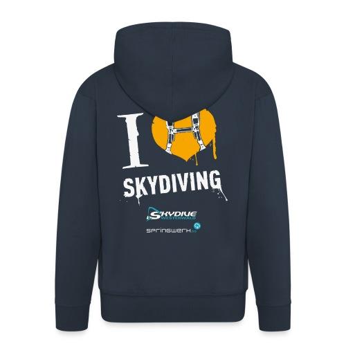 I heart Skydiving Pixel - Männer Premium Kapuzenjacke