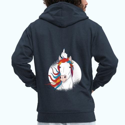 I'm A Fucking Unicorn - Men's Premium Hooded Jacket