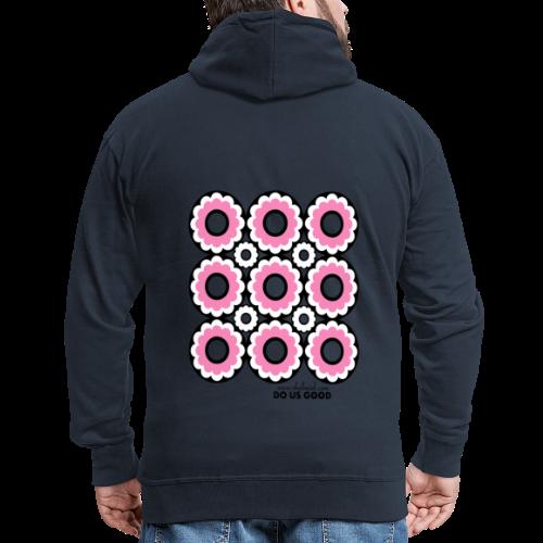 DOUGHNUT pink - Miesten premium vetoketjullinen huppari