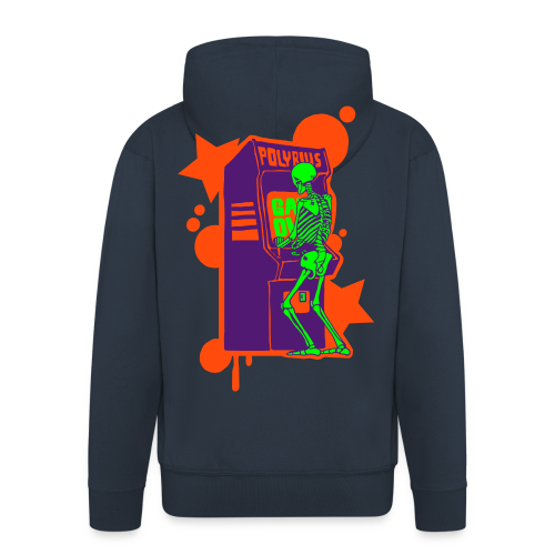 Hi-Score: Crazy Neon - Rozpinana bluza męska z kapturem Premium
