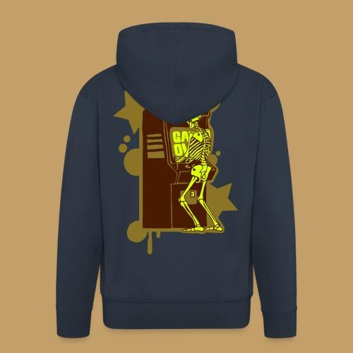 Hi-Score Gold and Neon - Rozpinana bluza męska z kapturem Premium