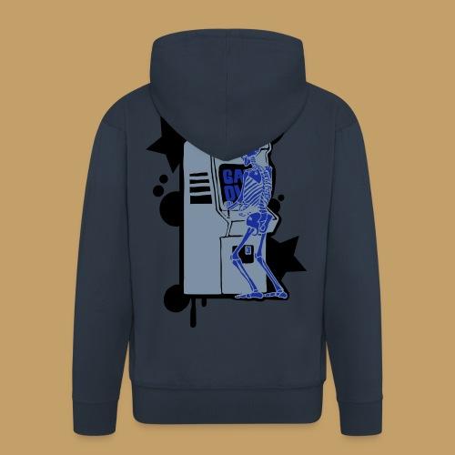 Hi-Score Silver X-ray - Rozpinana bluza męska z kapturem Premium